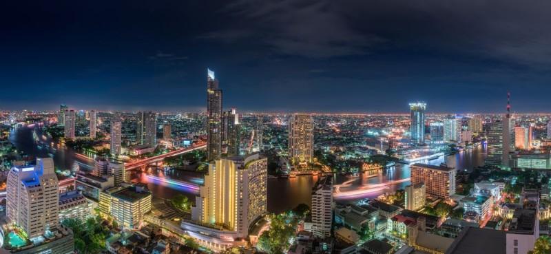 3D Фотообои «Ночь в большом городе»