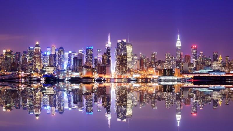 3D Фотообои 3D Фотообои «Огни Нью-Йорка»