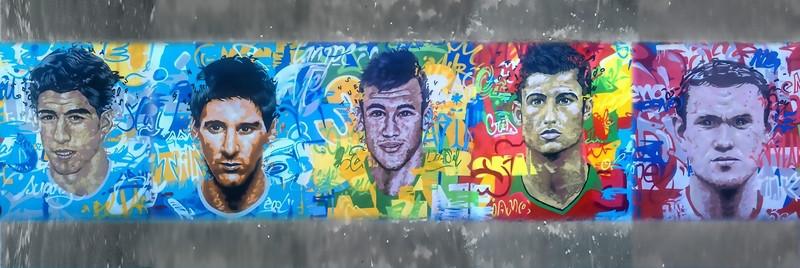 3D Фотообои 3D Фотообои «Звезды футбола»
