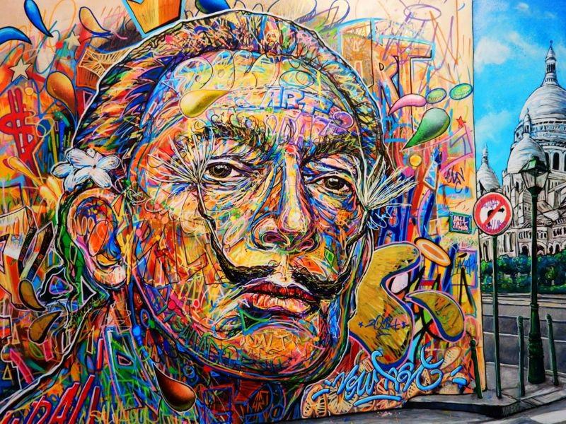 3D Фотообои 3D Фотообои «Стрит Арт Сальвадор Дали»