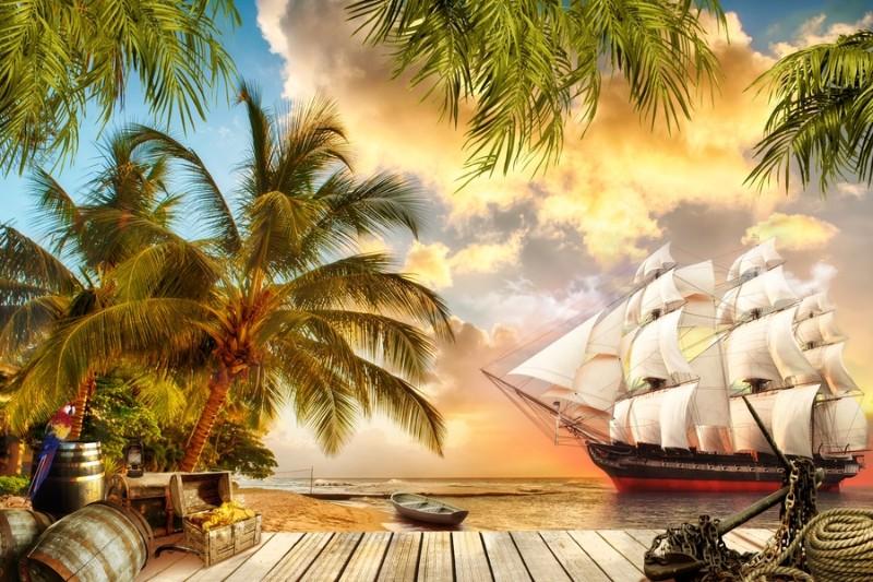 3D Фотообои 3D Фотообои «Пиратская гавань»