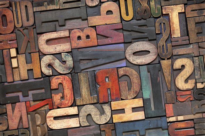 3D Фотообои 3D Фотообои «Деревянные буквы в интерьере»