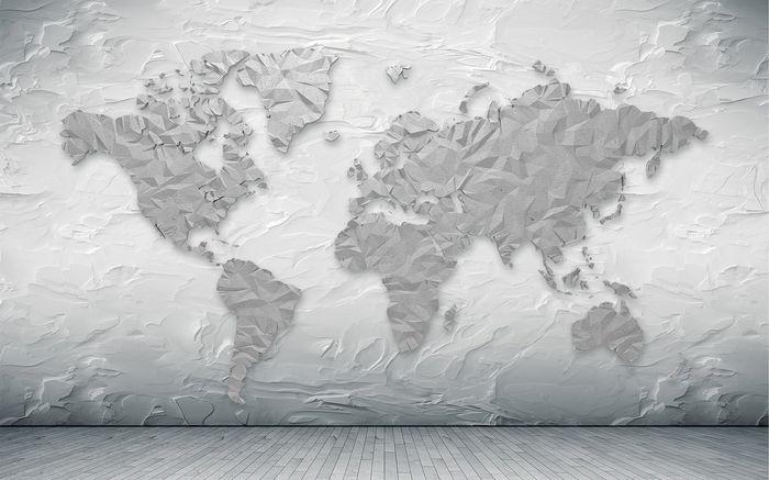 3D Фотообои «Карта лофт»