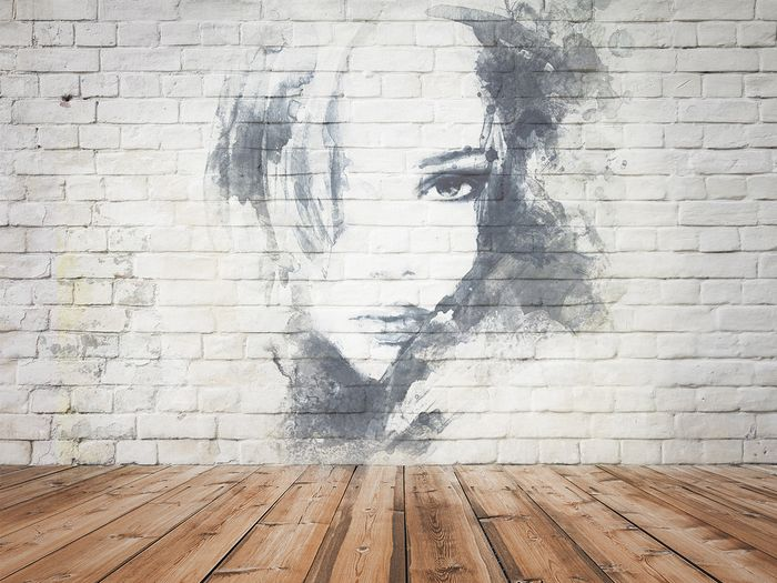 3D Фотообои «Портрет на стене»