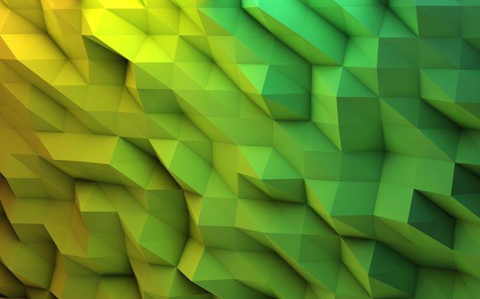 3D Фотообои «Зеленые полигоны»