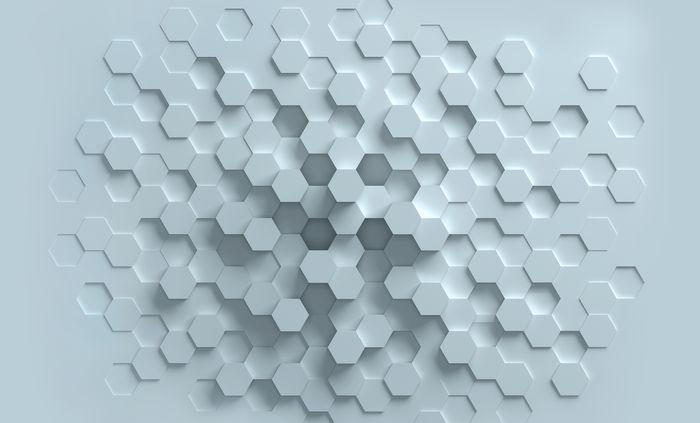 3D Фотообои 3D Фотообои «Сетка многогранников»