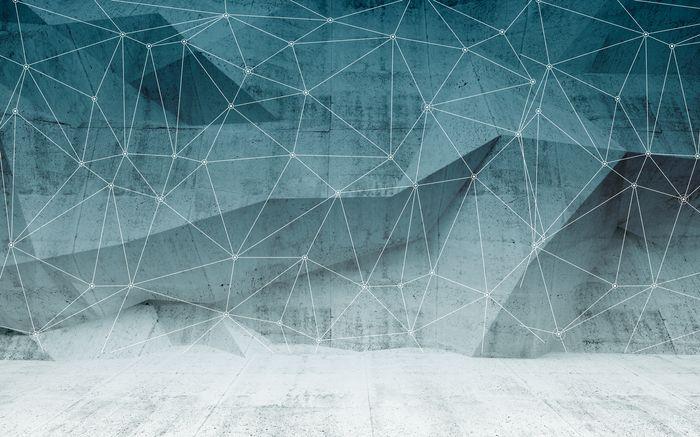 3D Фотообои 3D Фотообои «Полигоны с сеткой»