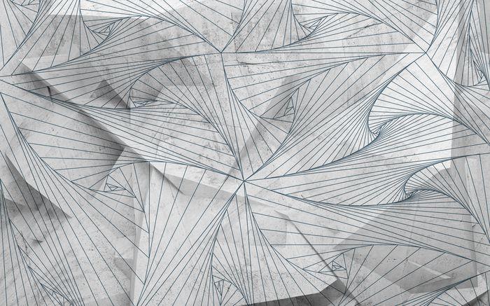 3D Фотообои 3D Фотообои «Узор на полигоне»