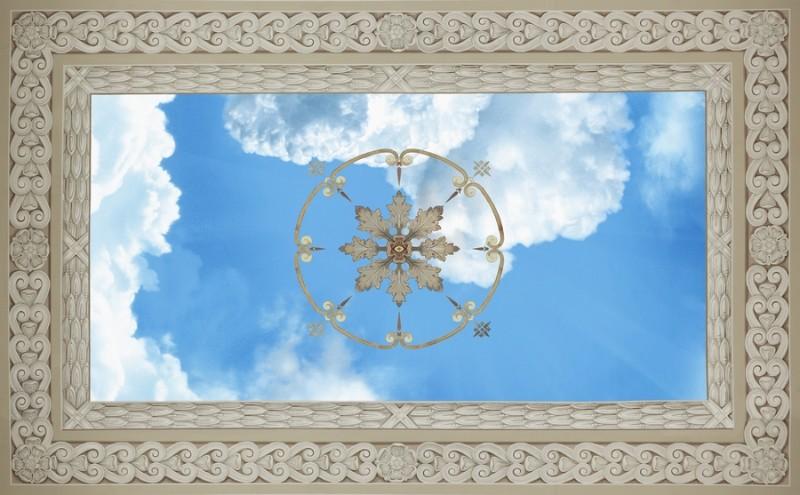 3D Фотообои 3D Фотообои «Небо потолочная фреска»