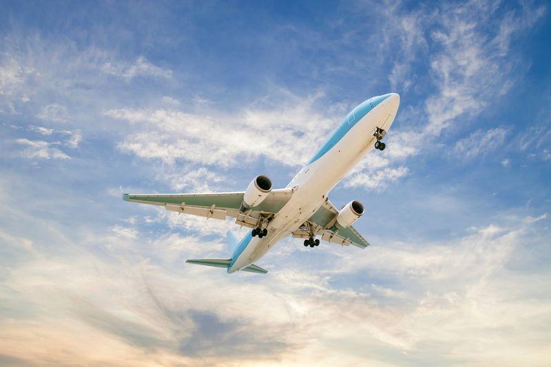 3D Фотообои 3D Фотообои «Самолет в закатном небе»