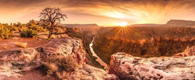 3D Фотообои 3D Фотообои «Закат над каньоном»