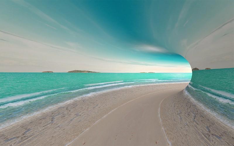 3D Фотообои 3D Фотообои «Морской тоннель»