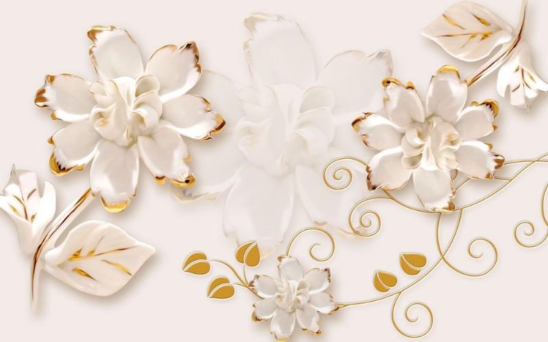 3D Фотообои 3D Фотообои «Фарфоровые цветы»
