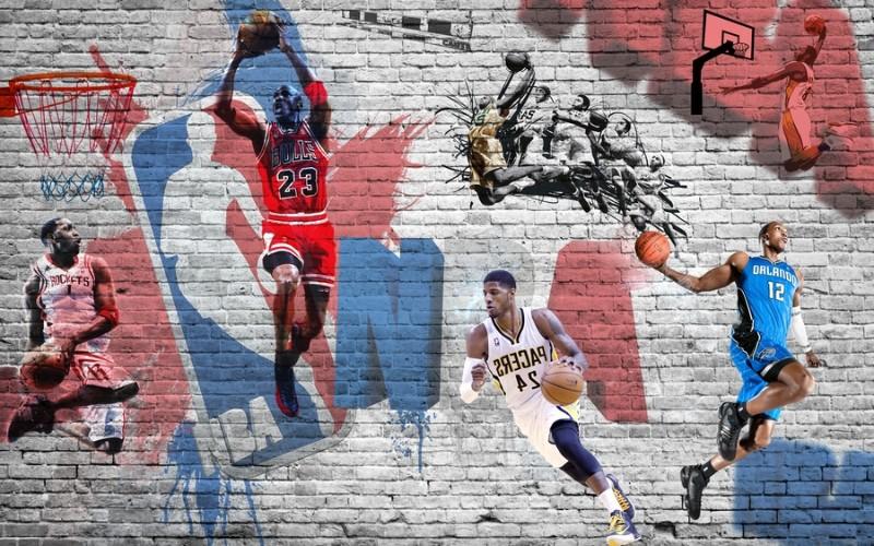 3D Фотообои «Игроки NBA»