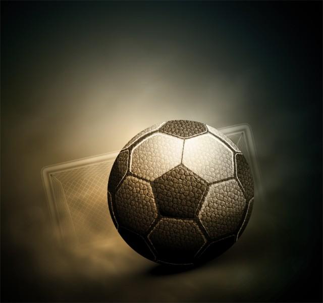3D Фотообои «Футбольный мяч»