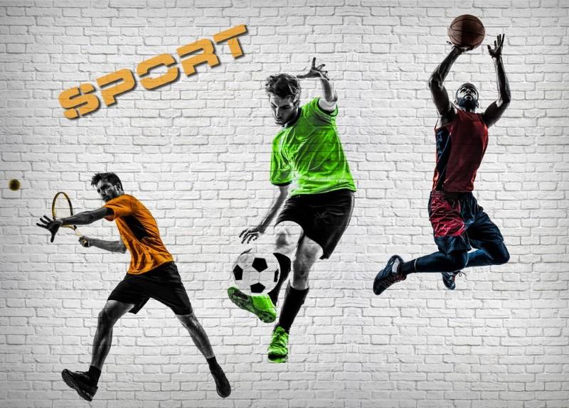 3D Фотообои 3D Фотообои «Спортивный коллаж»