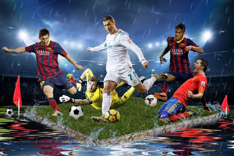 3D Фотообои 3D Фотообои «Футболисты»