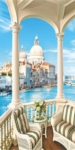 3D Фотообои 3D Фотообои «Балкончик с видом на Венецианский собор»