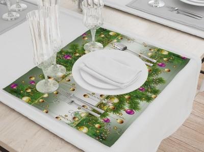 Сервировочная салфетка «Сверкающая новогодняя инсталляция»