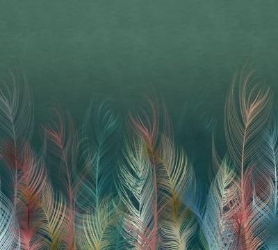 Шторы для ванной «Тропические перья»