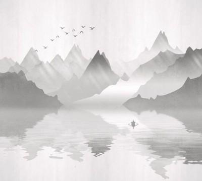 Шторы для ванной «Туманное озеро»