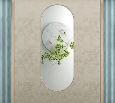 Шторы для ванной «Цветущая ветвь в зеркальном отражении»