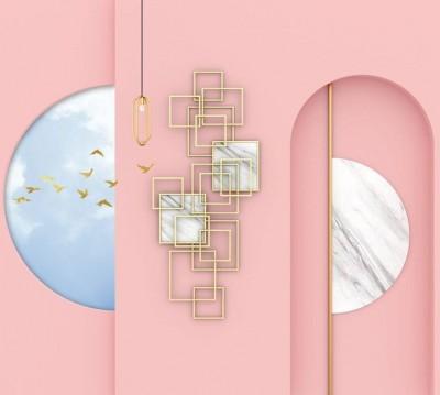 Шторы для ванной «Розовый баланс»