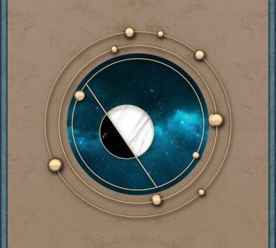 Шторы для ванной «Окно в космический простор»