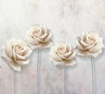 Шторы для ванной «Прекрасные розы на холсте»
