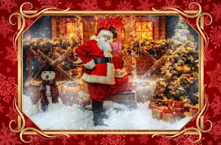 3D скатерть «Домик Санта Клауса» вид 1