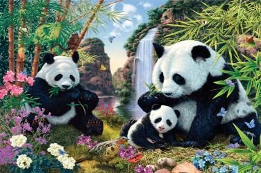 5D картина «Семейство панд»