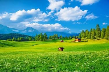 5D картина «Деревня в альпийской долине»