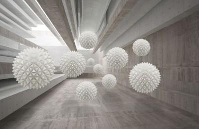 3D Ковер «Тоннель в стиле лофт»