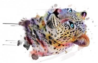 3D Ковер  «Красочный леопард»