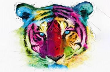 3D Ковер  «Красочный тигр»
