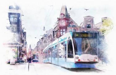 3D Ковер  «Европейский трамвай»