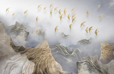 3D Ковер «Стая в тумане»