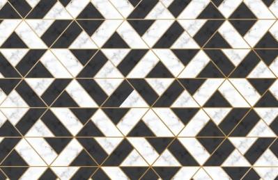 3D Ковер «Треугольная фантазия на мраморе»