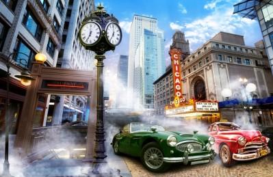 3D Ковер «Старинный Чикаго»