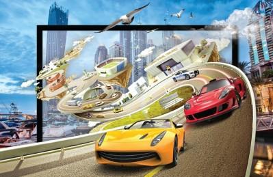 3D Ковер «Фантастическая гонка»