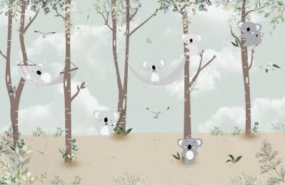 3D Ковер «Забавные коалы»