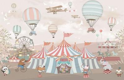 3D Ковер «Цирк шапито»