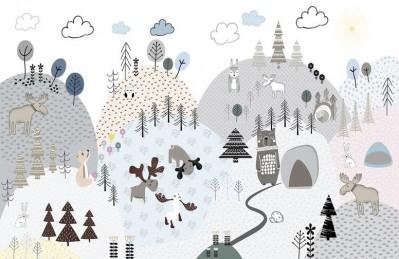 3D Ковер «Скандинавская полянка»