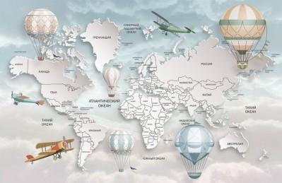 3D Ковер «Объемная детская карта»