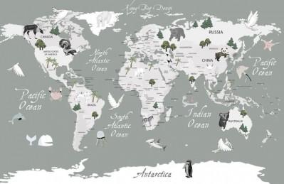 3D Ковер «Художественная карта на английском»