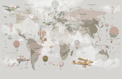 3D Ковер «Детская туманная карта»