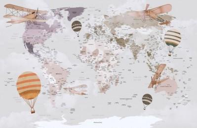 3D Ковер «Полетная карта»