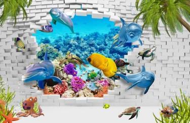 3D Ковер «Океан за стеной»