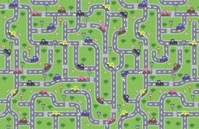3D Ковер «Оживлённая автострада»