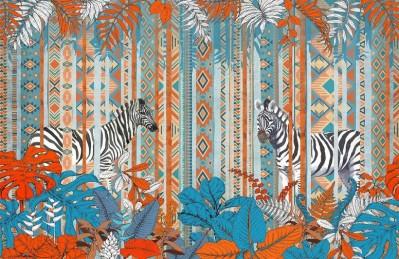 3D Ковер «Этнические зебры»